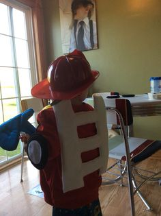 Back view of the heatwave rescue bot costume Halloween 2015, Spirit Halloween, Halloween Costumes, Spirit Day Ideas, Rescue Bots Birthday, Halloween Activities For Kids, Cool Kids, Kids Fun, Sons Birthday