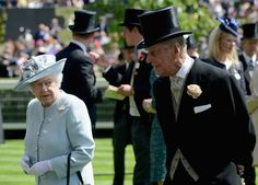 Queen Elizabeth II and Prince Philip, Duke of Edinburgh on day one of Royal Ascot at Ascot Racecourse on June 17, 2014