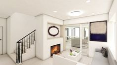 Open, light-flooded floorplan modernizes a previously cramped ...