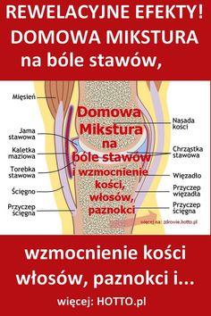 hotto.pl-domowy-sposob-na-bole-stawow-kolan-przepis-mikstura-naturalny smar dla stawów Healthy Skin, Healthy Eating, Good To Know, Medical, Wellness, Tips, Beauty, Amanda, Crane Car
