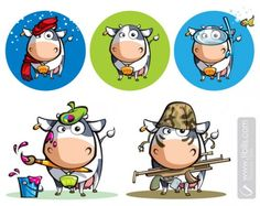 cow character design - Google Search