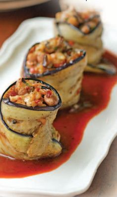 Stuffed Eggplant Parcels  vegetarian recipes #healthy #food #nutrition  to see the recipe click on the image...