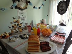 Hockey themed birthday party. Hockey Birthday Parties, Hockey Party, 9th Birthday, Birthday Party Themes, Birthday Ideas, Fundraising, Party Time, Birthdays, Kids