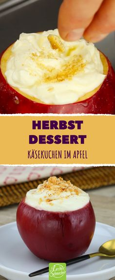 Baked apple or cheesecake for dessert? How about both? This is a re . - event planning - Baked apple or cheesecake for dessert? How about both? This is a re … Baked apple or cheesecake f - Crockpot Recipes, Soup Recipes, Dessert Recipes, Dessert Nouvel An, Good Food, Yummy Food, Puff Pastry Recipes, Baked Apples, Christmas Baking
