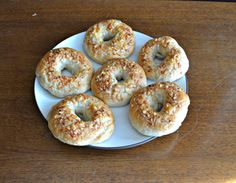 Parmesan Garlic Bagels are easy to make and are super flavorful with Parmesan cheese, sea salt, and garlic.
