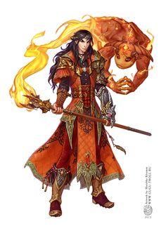 Tossair the Firemage by ~gugu-troll on deviantART #elf #sorcerer #wizard