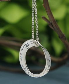 To Thine Ownself Be True Sterling Silver Necklace