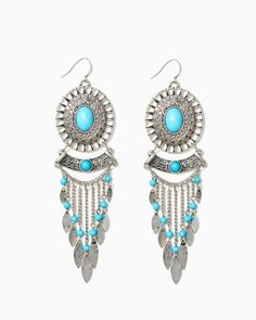 Pair these gorgeous earrings with a bohemian outfit!  | Native Feather Fringe Earrings | UPC: 450900396145 #charmingcharlie