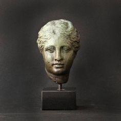 Female Metal Sculpture Hygieia Greek Goddess of Sickness