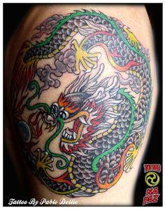Chinese Dragon Tattoo by Pablo Dellic TATS | tattoos picture chinese dragon tattoo Hamsa Tattoo, R Tattoo, Tattoo Blog, Dragon Tattoo For Women, Dragon Tattoo Designs, Mens Body Tattoos, Insane Tattoos, Gargoyle Tattoo, Arrow Tattoo