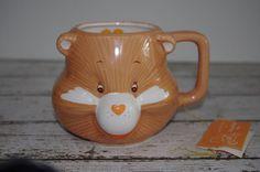 Vintage Care Bears 3D Ceramic Mug FRIEND BEAR With ORIGINAL HANG TAG