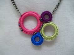 "FREE Tutorial.  Crochet Ring Necklace-  GREAT Xmas present"" class=""pin-it-button"" count-layout=""horizontal"">"