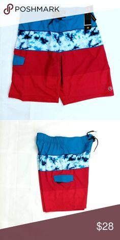 Boys Ocean Current Swim Swimming Trunks Board Shorts Large L XL NEW NWT