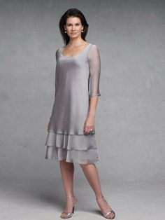 Mother of the Bride Dresses | ... Knee-length Short Sleeve Chiffon / Taffeta Mother of The Bride Dress