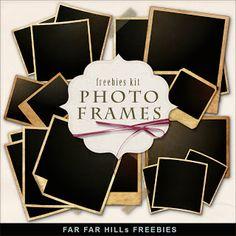 Kit Freebies Vintage Style Photo Frames