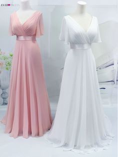 Flutter Sleeve, Short Train Chiffon Special Occasion Dresses in Many Colors – A Lark And A Lady Party Wear Indian Dresses, Indian Gowns Dresses, Evening Dresses, Wedding Dress For Short Women, Wedding Outfits For Women, Bridesmade Dresses, Bridesmaid Dresses With Sleeves, Elegant Dresses, Pretty Dresses