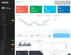 Last Update: 13 February 2014 / v1.5.1Neon – is flat admin template for multi-purpose usage built with the latest version of Bootstrap – 3.It contains more than 100 HTML files which offer you great variety of layout options and resources, and it will b…