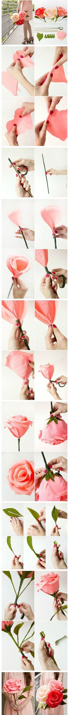 Diy Beautiful Rose | Click to see More DIY & Crafts Tutorials on Our Site.
