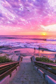 Walk by the beach La Jolla, California ? Eric RubensWalk by the beachLa Jolla, California? Beautiful Nature Wallpaper, Beautiful Sunset, Beautiful Landscapes, Beautiful Places, Beautiful Pictures, Wonderful Places, Summer Wallpaper, Beach Wallpaper, Aesthetic Backgrounds