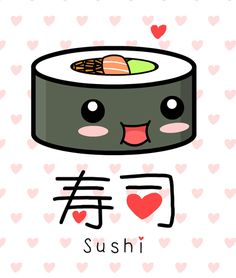 Crazy cute sushi illustration! #cute #sushi #kawaii #food #Japanese #Japan
