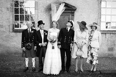Wedding at Canongate Kirk Edinburgh - Wind lifts bride's veil during group shots Bride Veil, Group Shots, Documentary Wedding Photography, Edinburgh, Documentaries, Photographers, Documentary, Group Photos