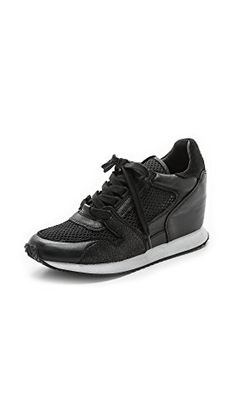 Ash Women's Dean Mesh Sneakers, Black/Black/Black, 38 EU (8.5 B(M) US Women) ** Check this awesome product by going to the link at the image.