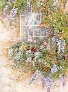 ✿Flowers at the window & door✿ 'The Wisteria' ~ Marty Bell