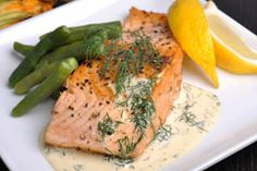 Learn how to create this easy Champagne Dill Cream topping for a Wild Salmon dinner.