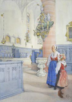 slowlyeden: Carl Larsson (1853–1919), Kristine kyrka, 1918 x