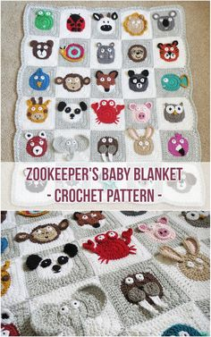 Zookeeper's Baby Blanket Crochet Pattern - baby diy - The Zookeeper's Blanket is an adorable baby blanket featuring an entire zoo of 30 different anima - Crochet For Beginners Blanket, Crochet Blanket Patterns, Baby Blanket Crochet, Baby Patterns, Crochet Baby, Kids Crochet, Knitting Baby Blankets, Crocheted Baby Blankets, Scrap Crochet