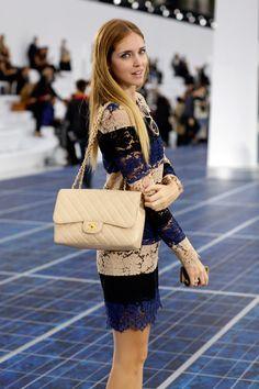 cream chanel handbag.