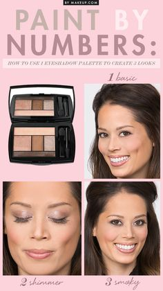 How to Use 1 Eyeshadow Palette to Create 3 Looks // #makeup