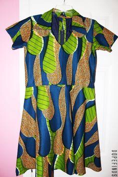 African Ankara Baby Doll Dress (M/L)