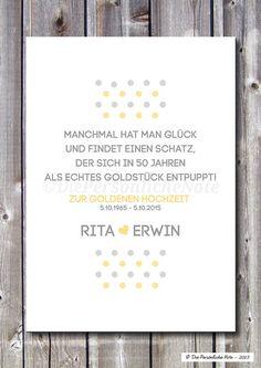 Druck/Print: Goldene Hochzeit - 50. Ehejubiläum von Die Persönliche Note auf DaWanda.com