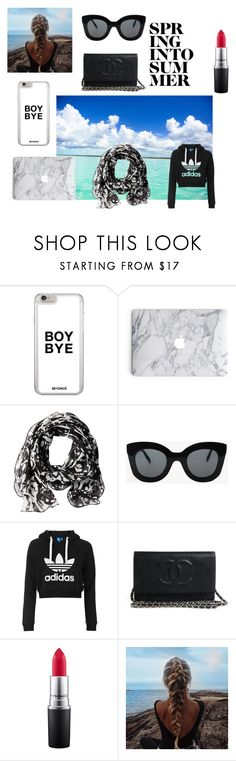 """Summer 2k16 inspo"" by giorgiosgurl on Polyvore featuring Calvin Klein, CÉLINE, Topshop, MAC Cosmetics, paradise, Beyonce, sunglasses, current and marble"