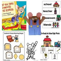 Printables If You Take A Mouse To School Worksheets teaching tools literacy and songs on pinterest if you take a mouse to school theme