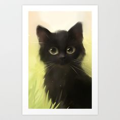 Savage Cat Art Print by Rihards Donskis - $14.56