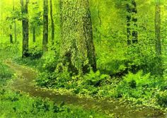 Isaac Ilich Levitan  - Footpath in a Forest, Ferns,1895