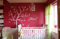 Love the tree idea, so sweet and love the name on the wall.