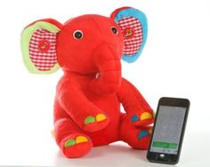 Kumki Bluetooth Elephant. Fun and cool plush toy. Wirelessly connect to smartphone or bluetooth enabled device for multifunction-interactive.