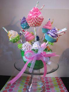 Fake Cupcake Bouquet