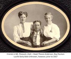 Anderson Hazel, Poulson Roy, Seely Lucille Mt Pleasant Utah 1910