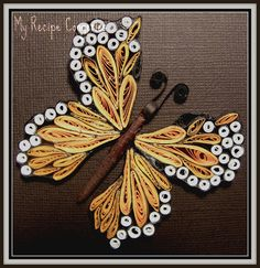 Quilled Butterfly by Lavanya Selvaraj