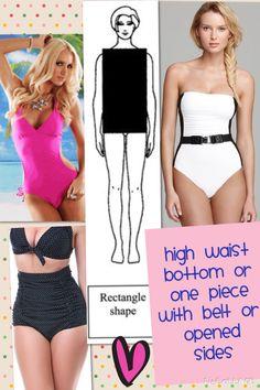 Rectangle body shape bikinis More