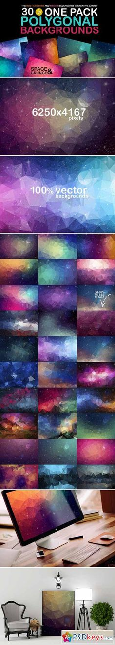 Polygonal Space Backgrounds 430458
