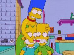 Bart y Lisa Simpson también se lavan los dientes cada mañana