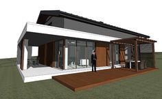 Projekt nowoczesnego domu z antresolą w Paczewie