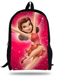 87f7ae1b84 16-inch Silvermist Fairy Backpack Cute Book Bag Mochila Tinker Bell Kids  School Bags For Teenage Girls.