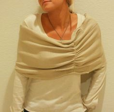 a great tutorial for transforming a sweater into a stylsih caplet.