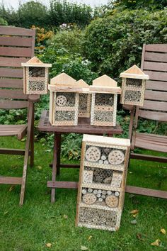 Bee boxes made for and donated to the local charity shop Ferne Animal Sanctuary Garden Bugs, Garden Art, Bird House Feeder, Bug Hotel, Mason Bees, Bee Boxes, Bee Keeping, Permaculture, Garden Projects